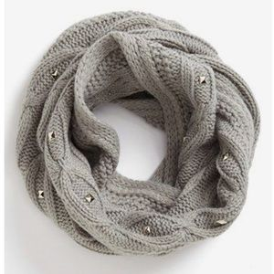GREY Saks Fifth Avenue Studded Knit Infinity Scarf